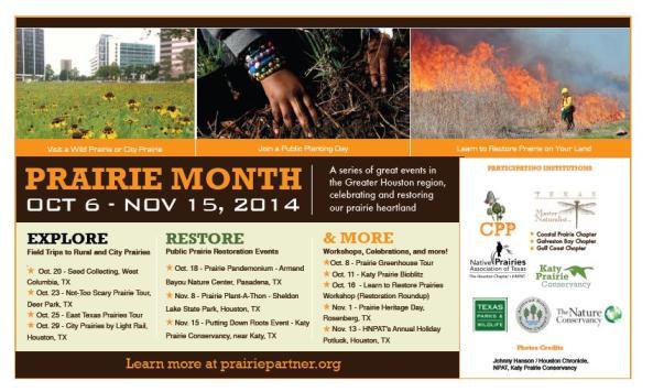 Prairie Month Flyer - hand