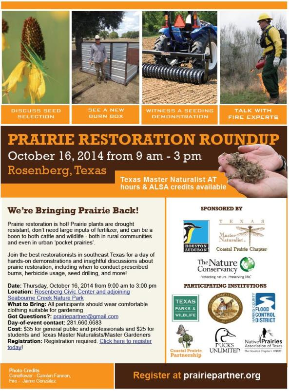 2014 Restoration Roundup flyer