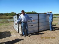 Chip Davis and the Burn Box. Restoration Roundup in Rosenbergy, 10/16/14.