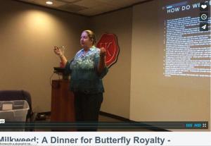 "Barbara Keller Willy speaking on ""Milkweed A Dinner For Butterfly Royalty"" at HNPAT meeting, February 25, 2015"