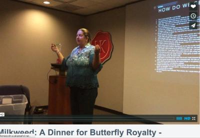 "Barbara Keller Willy speaking on ""Milkweed A Dinner For Butterfly Royalty"" at HNPAT meeting, February 25, 2015"