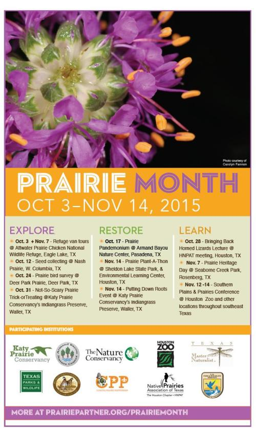 2015 Prairie Month Flyer