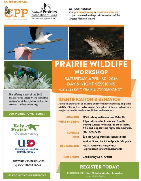 PrairieWildlifeWorkshop160430