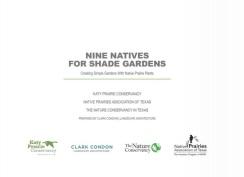 Nine Natives for Shade Gardens Cover